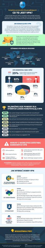 infografika na temat tego, co jest VPN