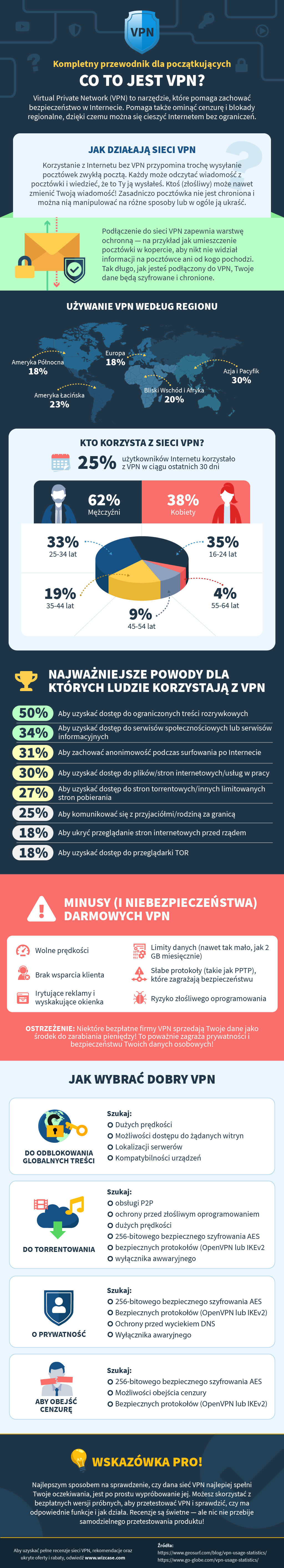 infographic guide to what is a VPN in Polish