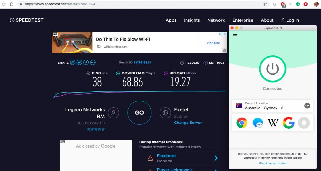 ExpressVPN Speed Test 2