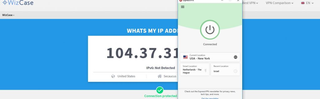 ExpressVPN ip leak Test