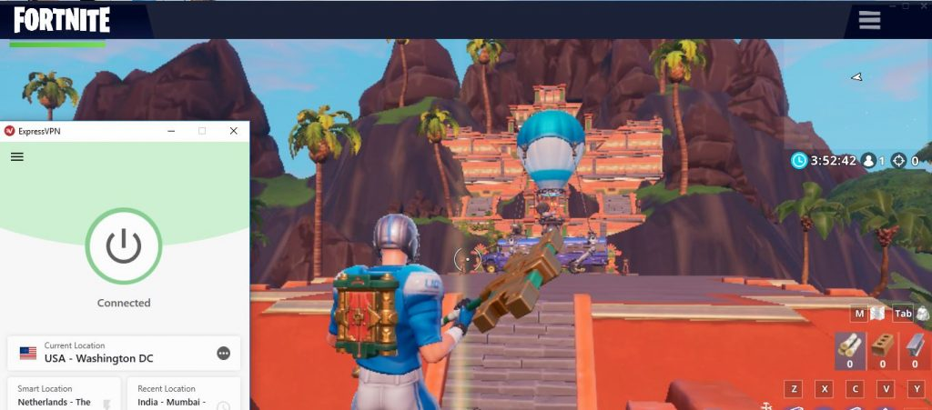 ExpressVPN works with Fortnite