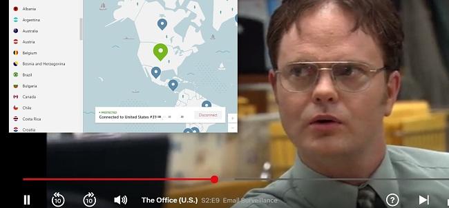 NordVPN Bypasses Netflix geo block