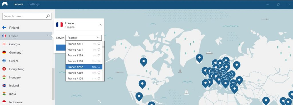 NordVPN Choose the best server location for you