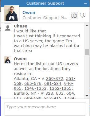 Lokalizacje serwerów NordVPN w USA