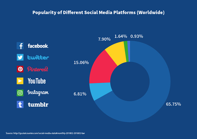 popularity of different social media platforms