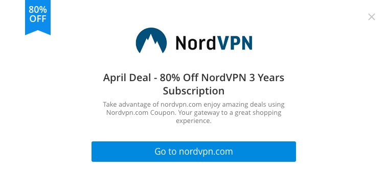 There is no 80% NordVPN deal