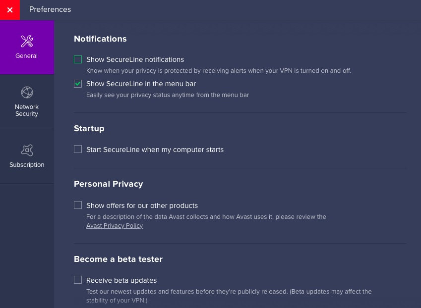 Customizing Avast SecureLine VPN