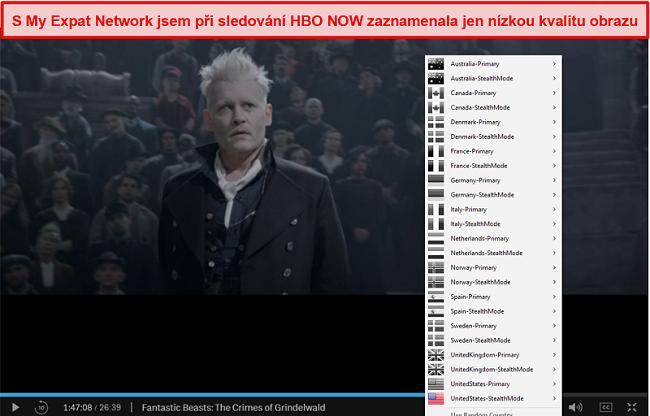Screenshot z odblokování mé sítě Expat HBO HNED TEĎ