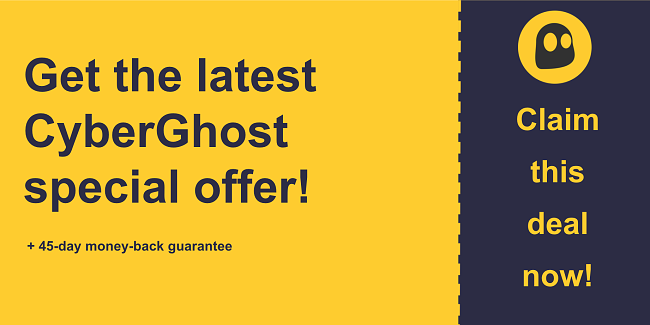 CyberGhost VPN discount coupon