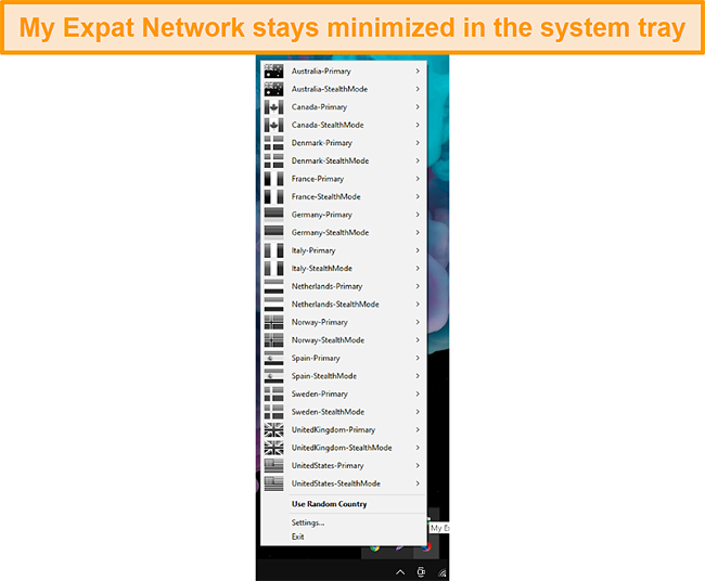 Screenshot of My Expat Network Desktop Interface