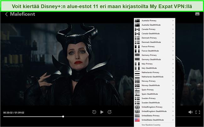 Näyttökuva My Expat Network -verkostostani, joka poistaa Disney + USA: n eston
