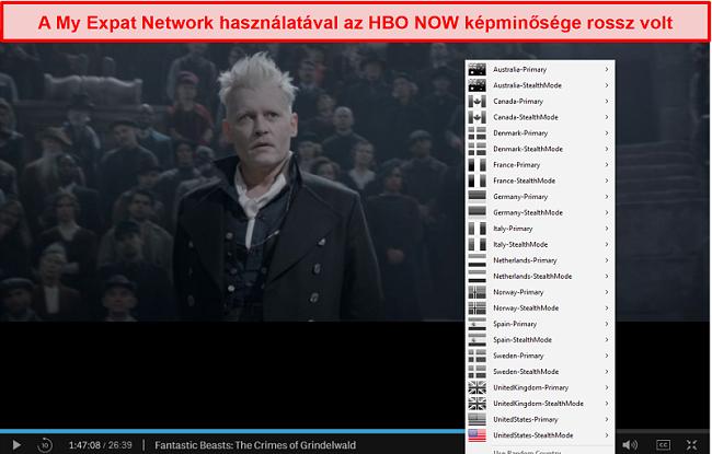 Pillanatkép a My Expat Network-ről, amely MOST feloldja az HBO blokkolását