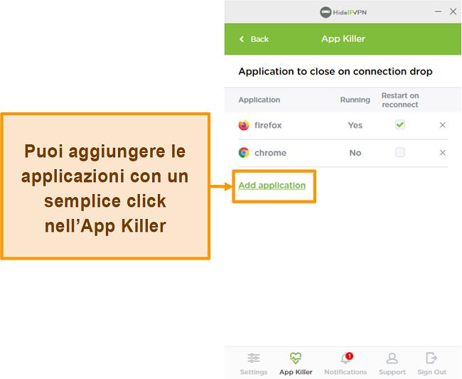 Screenshot di HideIPVPN Application Killer.