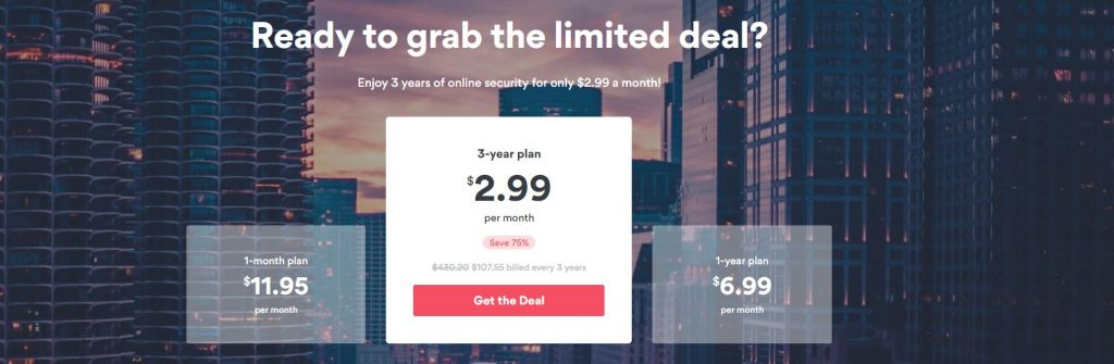 NordVPN limited 75% deal