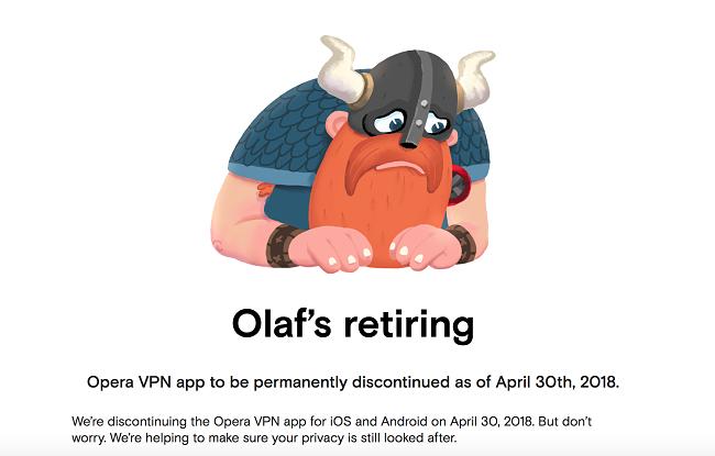 Det pleide å være en Opera VPN mobil-app men de avviklet den i år.