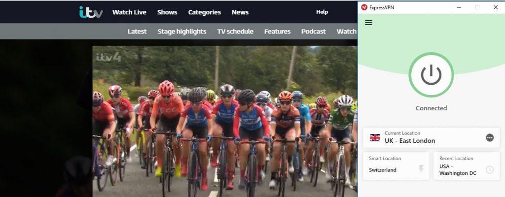 Tour de France ExpressVPN ITV Hub