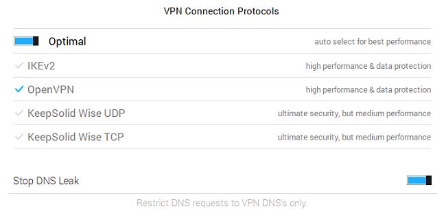 VPN unlimited settings