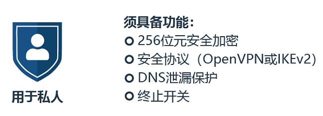 有关如何选择VPN进行隐私保护的信息图