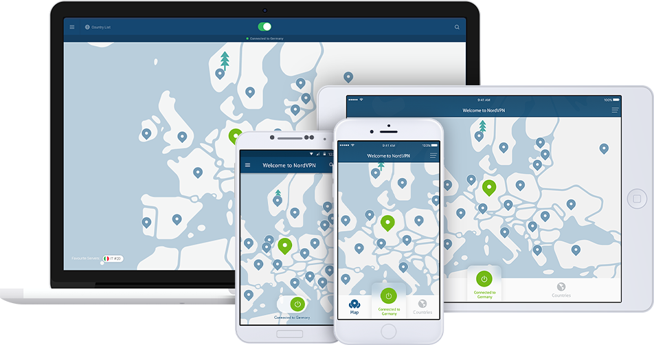 Screenshot of NordVPN devices
