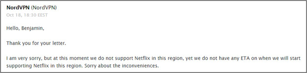 NordVPN's issues with Netflix Poland