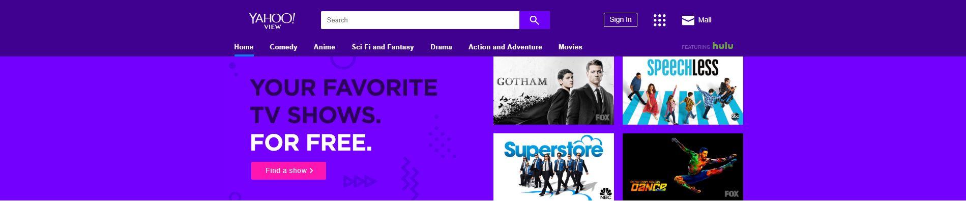 Screenshot of Yahoo View website