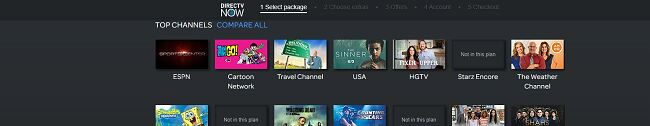 Screenshot of DirectTV with Cartoon Network
