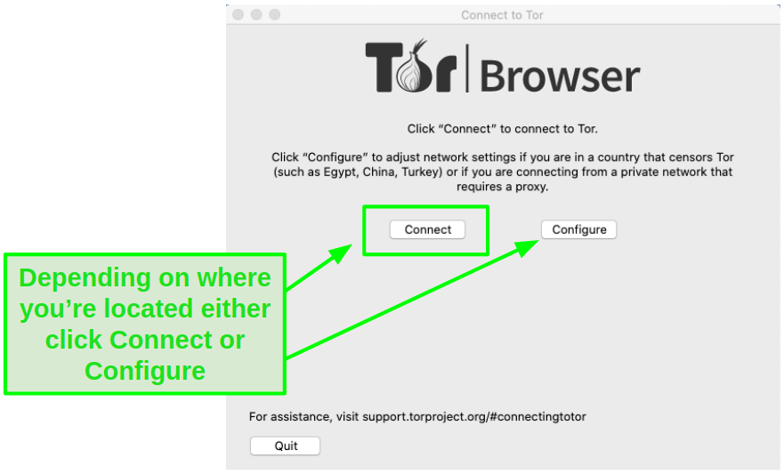 Either click Connect or Configure.
