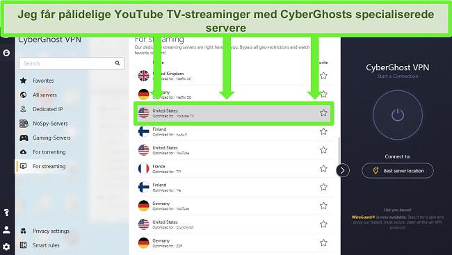 bedste vpns at bruge til youtube tv cyberghost optimeret streaming server