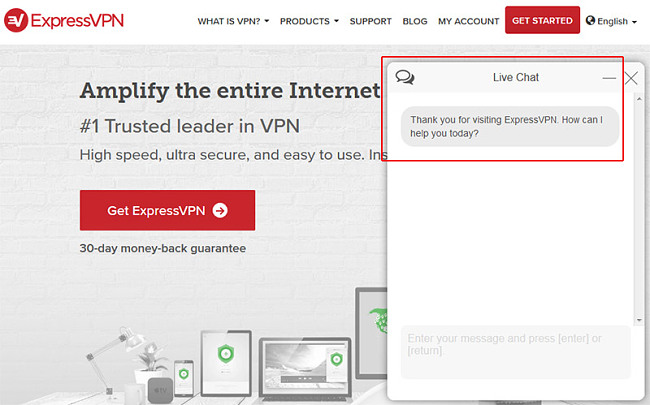 Express vpn help live chat