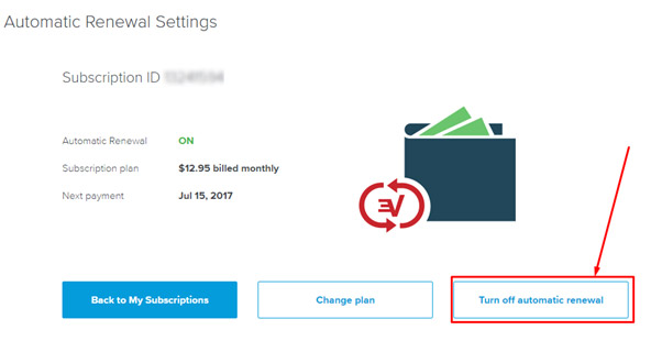 Expressvpn turn off automatic renewal