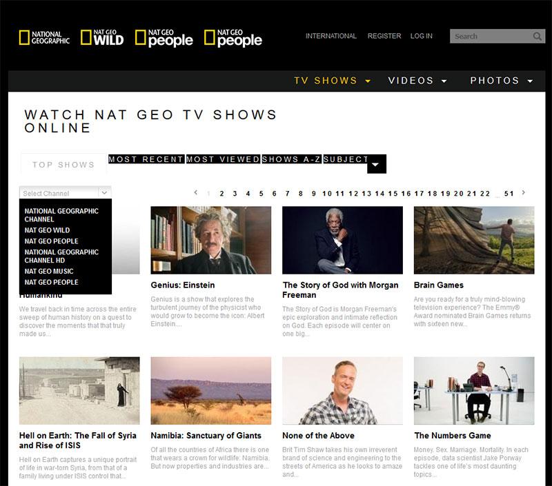 NatGeo TV online