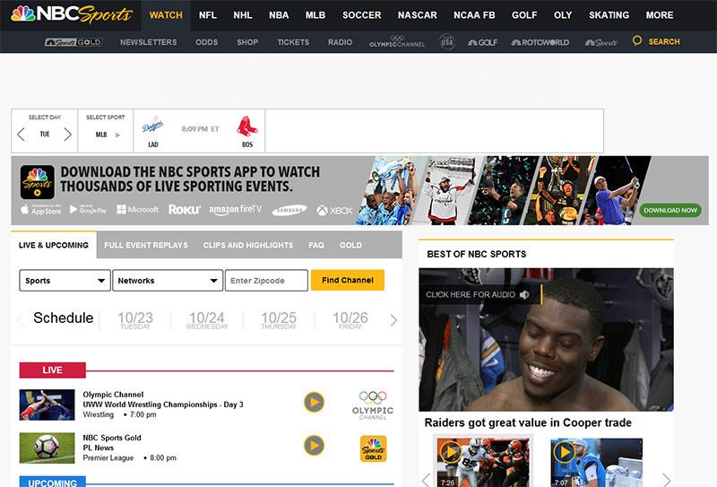 How to Watch NBC Sports live