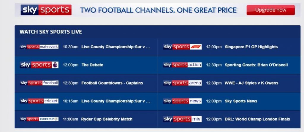 Stream SkySports and Bypass the Geo Block