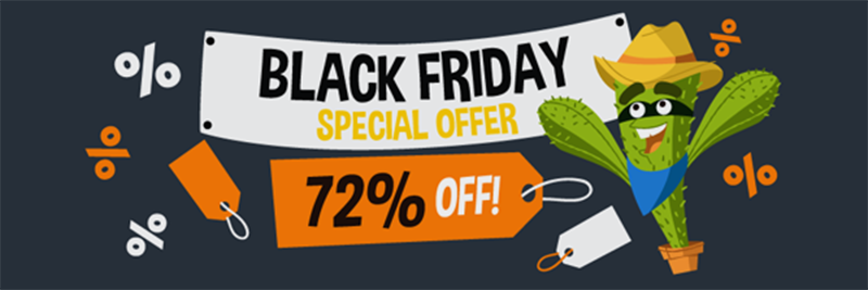 Screenshot of CactusVPN Black Friday/Cyber Monday Deal