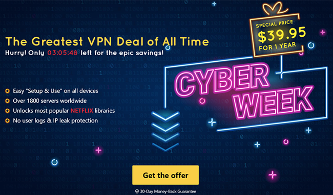 Hide.me VPN's Black Friday and Cyber Monday deal