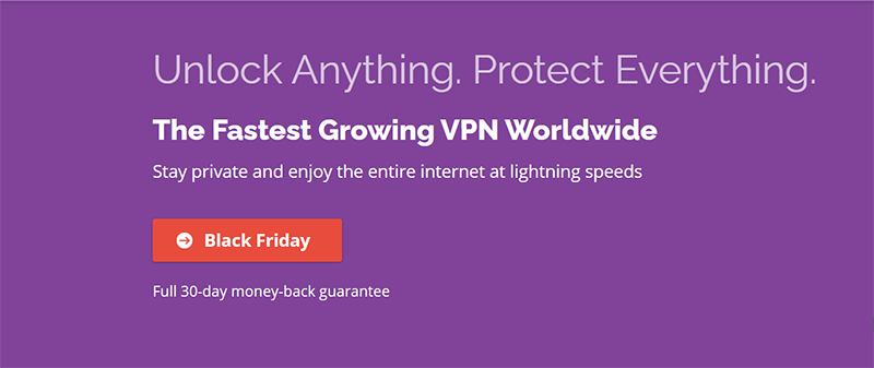 Screenshot of PrivateVPN's Black Friday Deal