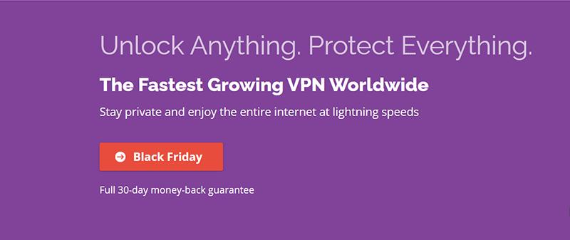 Screenshot of PrivateVPN's Black Friday Deal