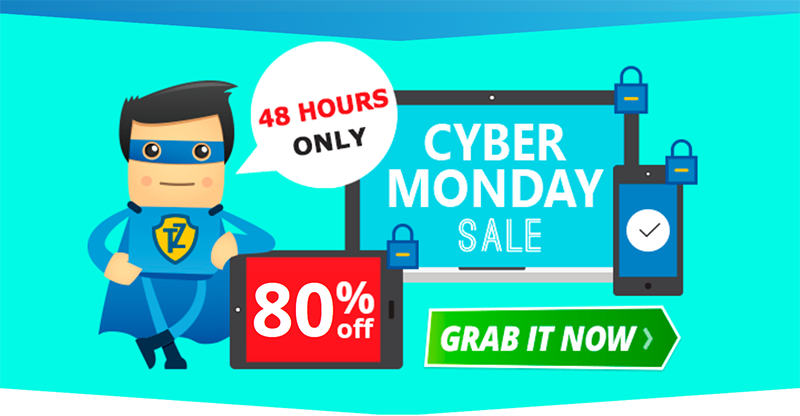 Screenshot of Trust.Zone's Black Friday/Cyber Monday Deal