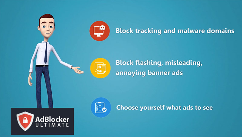 AdBlocker Ultimate blocks all annoying ads on the web