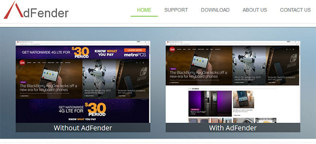 AdFender add blocker
