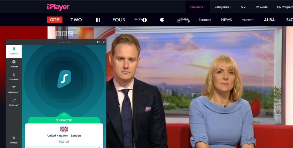 bbc iplayer works with surfshark