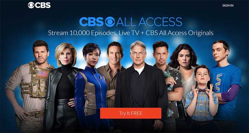 CBS shows all access