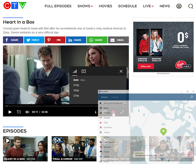 CTV NordVPN streaming