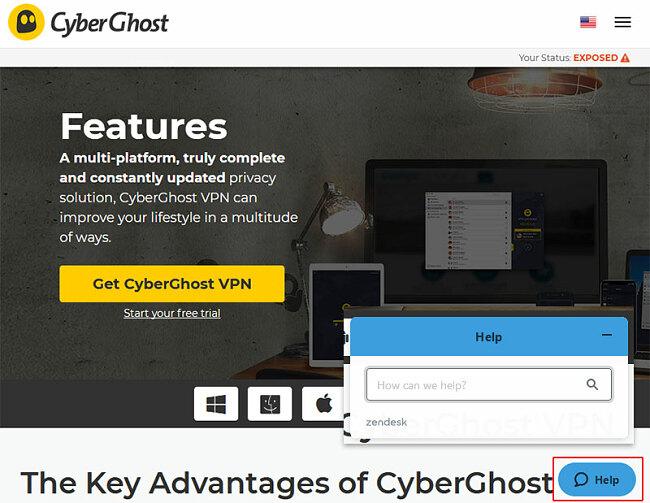 CyberGhost VPN help