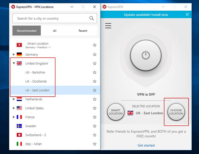Express VPN UK-based servers