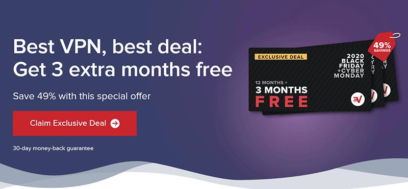 Screenshot of ExpressVPN's deal for Black Friday/Cyber Monday