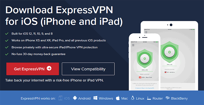 ExpressVPN IOS iPhone