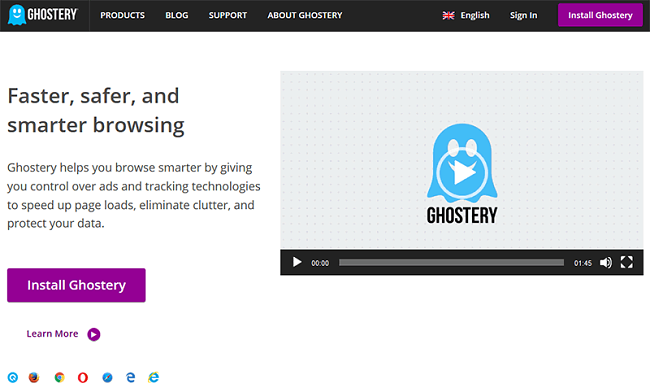 Ghostery add blocker