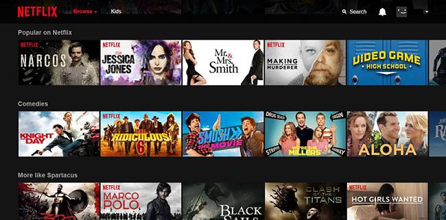 поток Netflix TV показва навсякъде