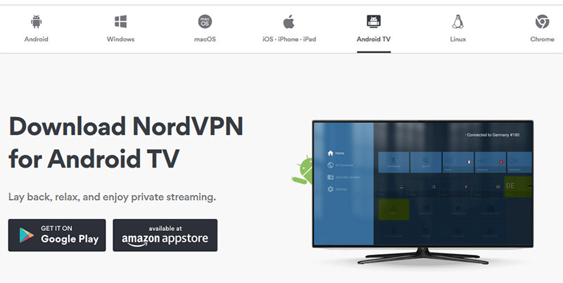 NordVPN android tv